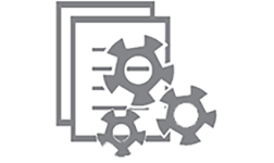 Icon: Document with gears